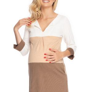 Платье для беременных с рукавом три четверти PEEKABOO