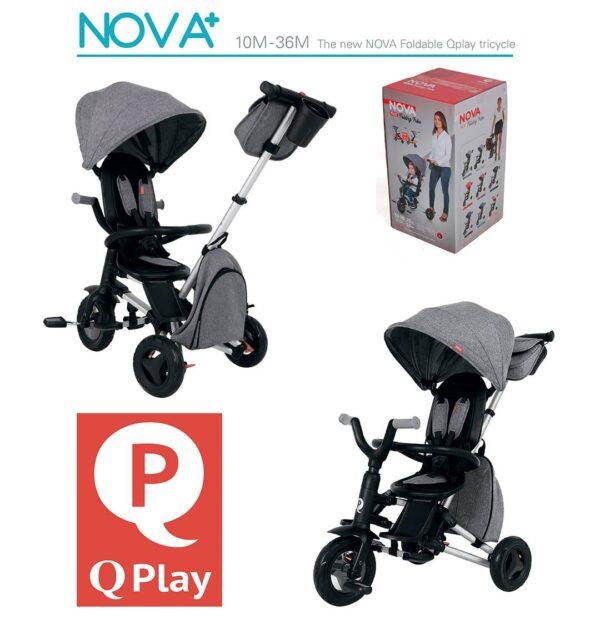 Bērnu trīsritenis Qplay Nova fast folding REVERS 360