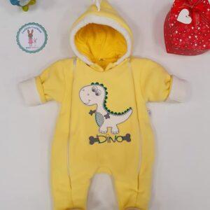 Bērnu kombinezons DINO dzeltenā krāsā 56 izm