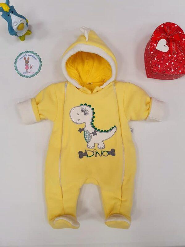 Детский димесезонный комбинезон DINO жёлтый 56 размер