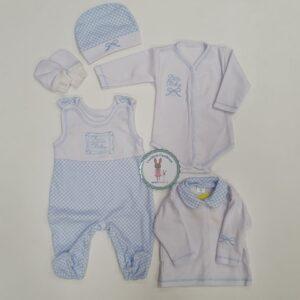 Хлопковый комплект для новорожденных из 5 частей