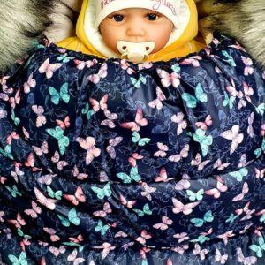 Guļammaiss Bērnu ratiem ar oderi