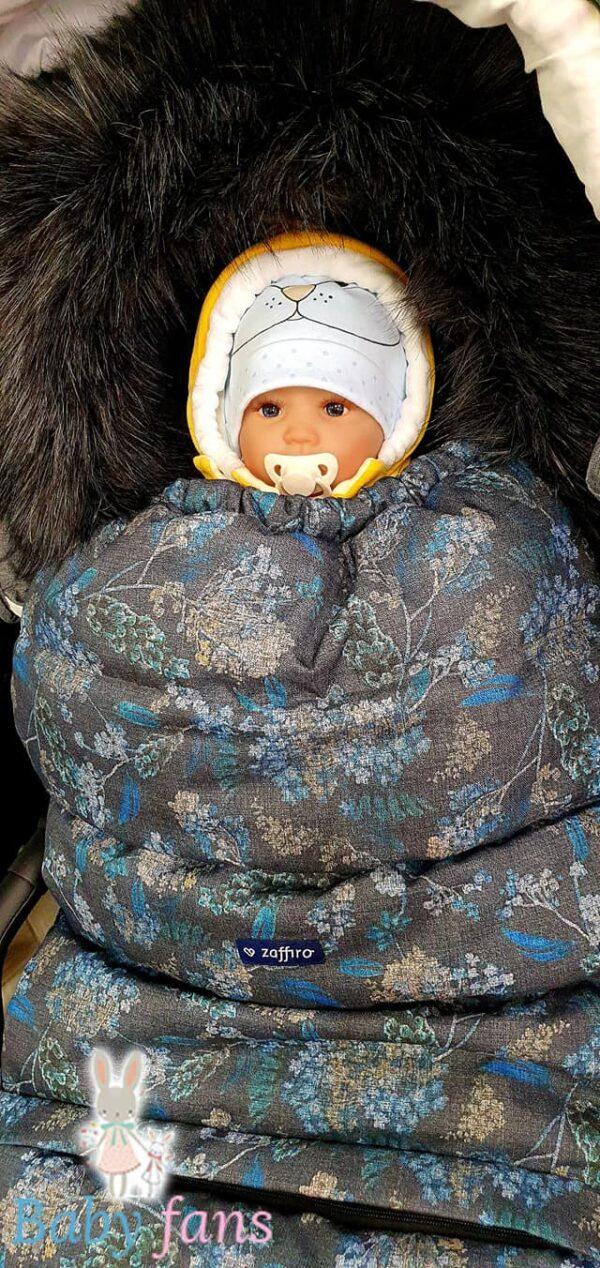 Ratu guļammaiss ar aitas vilnas oderi Grow Up FLORI Blue