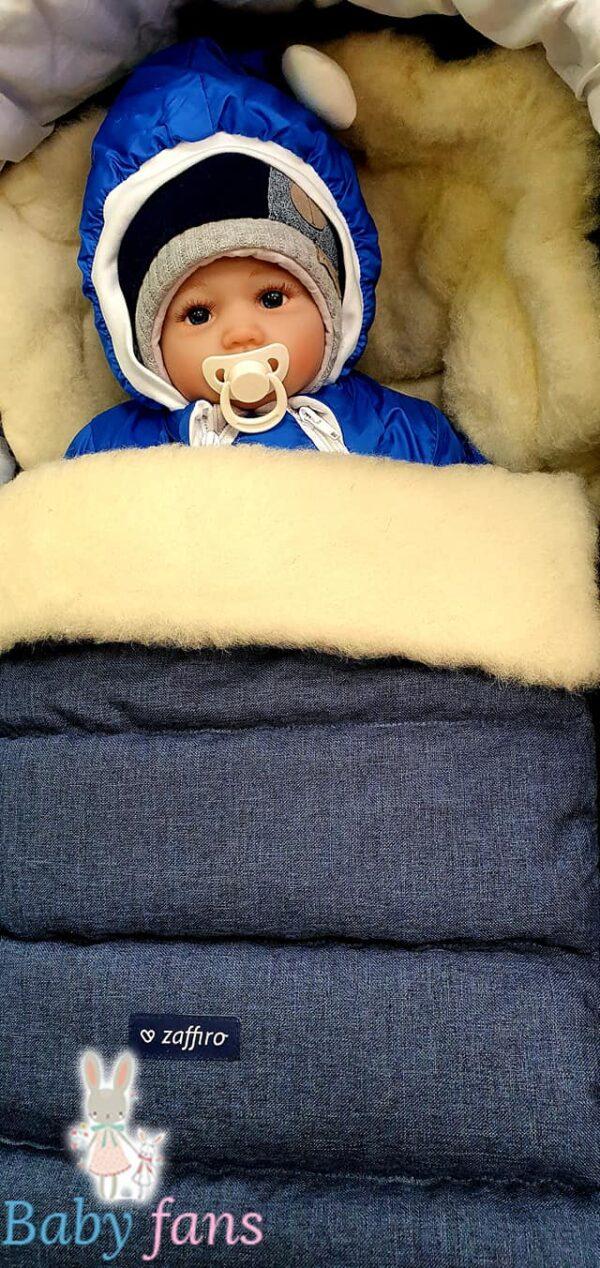 Спальный мешок на натуральной овчине ( с удлинением )