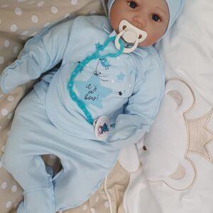 Хлопковый комплектик для новорожденного малыша из 3-х частей