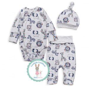 Хлопковый комплект на выписку для новорожденного