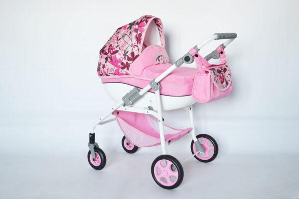 Кукольная коляска с поворотными колёсами