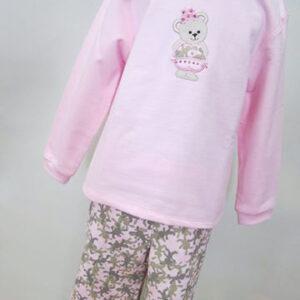 Детский костюмчик Мишка на розовом