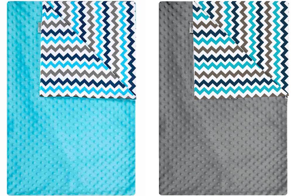 Мягкое двустороннее одеяло-плед из микрофибры