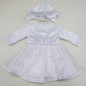 Платье для крещения и шляпка