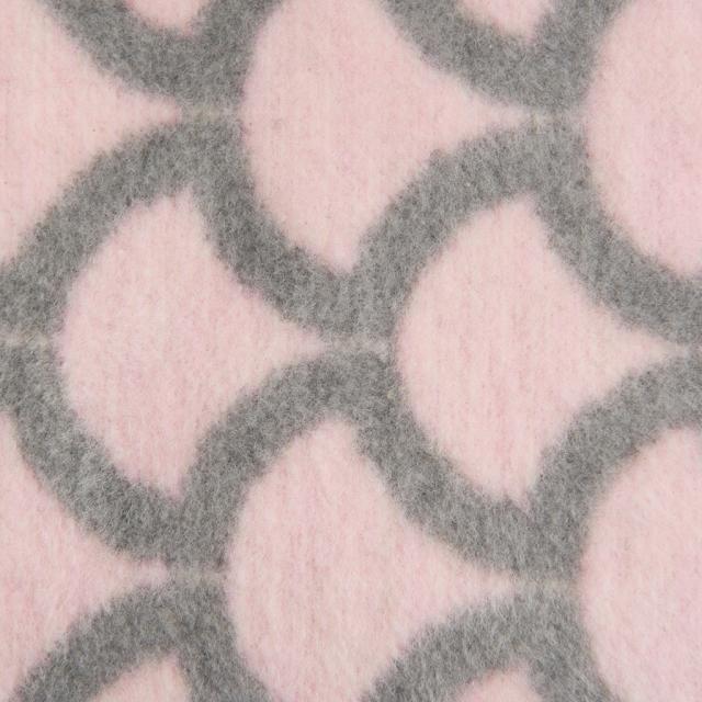 Mīkstā kokvilnas sedziņa (plediņš) 75x100cm krāsa rozā un pelēka