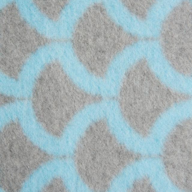 Детское хлопковое одеяло/плед 75x100cm цвет серый с голубеньким