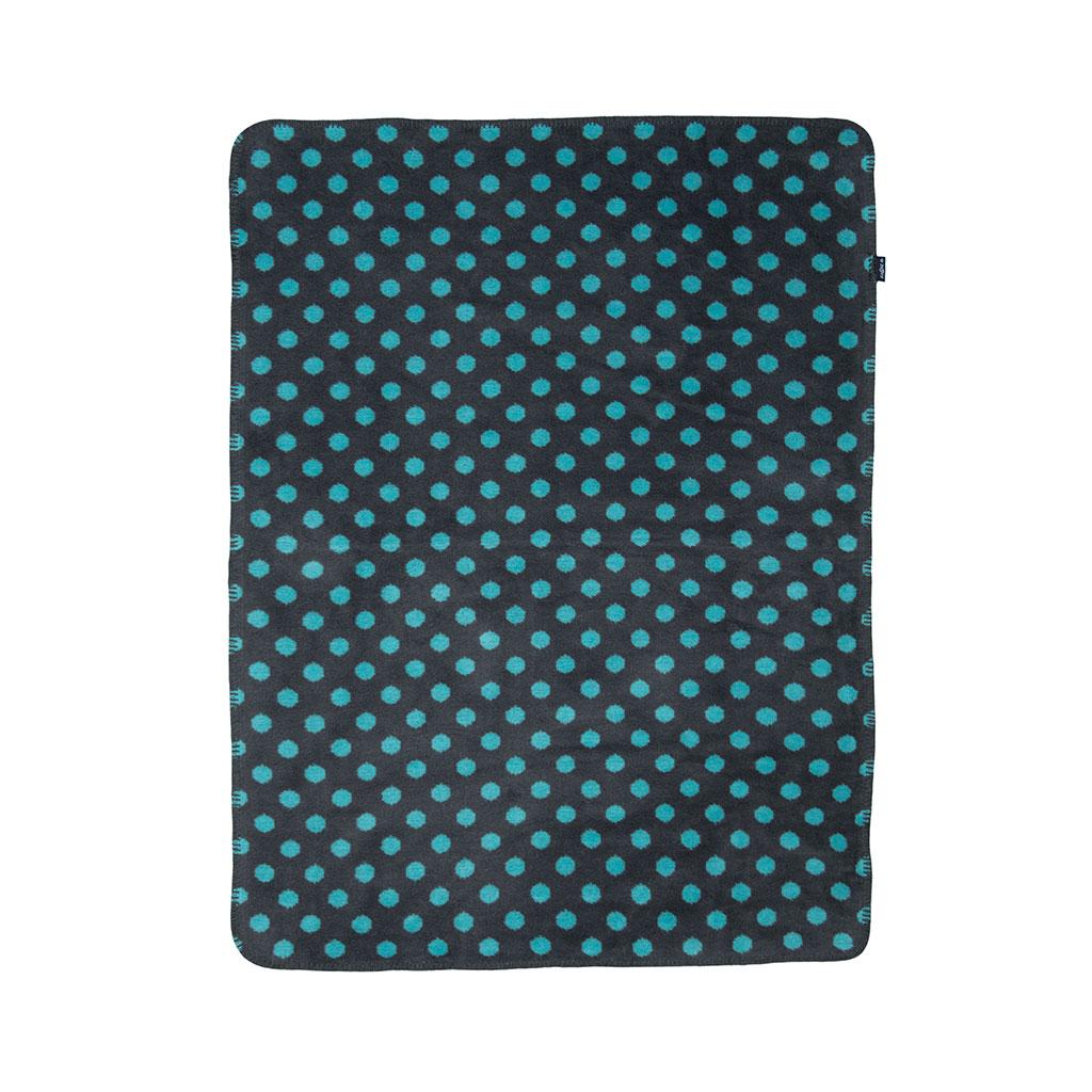 Mīkstā kokvilnas sedziņa (plediņš) 75x100cm  zila krāsa