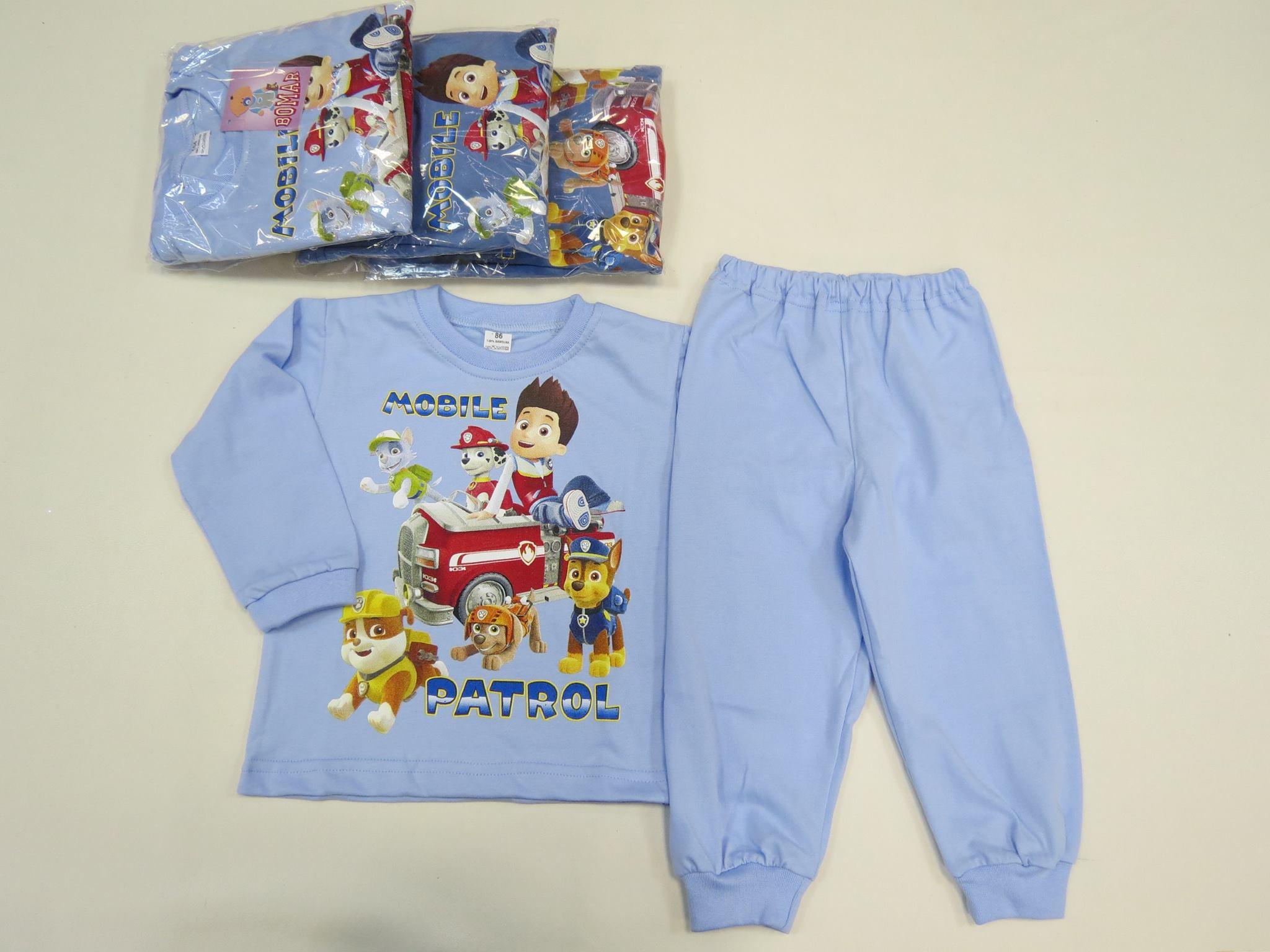 Bērnu kokvilnas pidžama zēniem 86-98