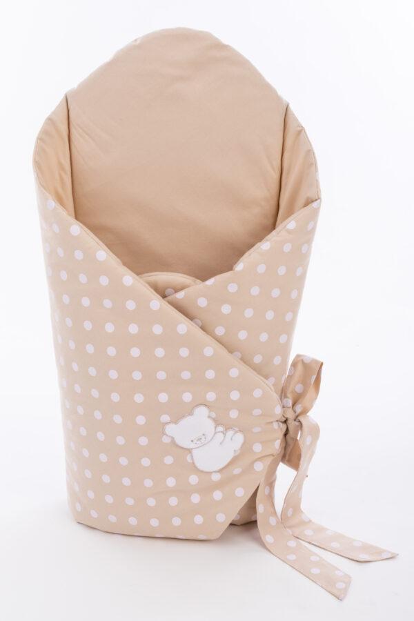 Хлопковый конвертик одеяло для новорождённого