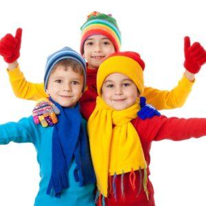 Детские варежки и шарфы
