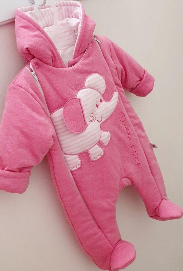 Kombinezons jaundzimušajiem rozā krāsa 56 cm