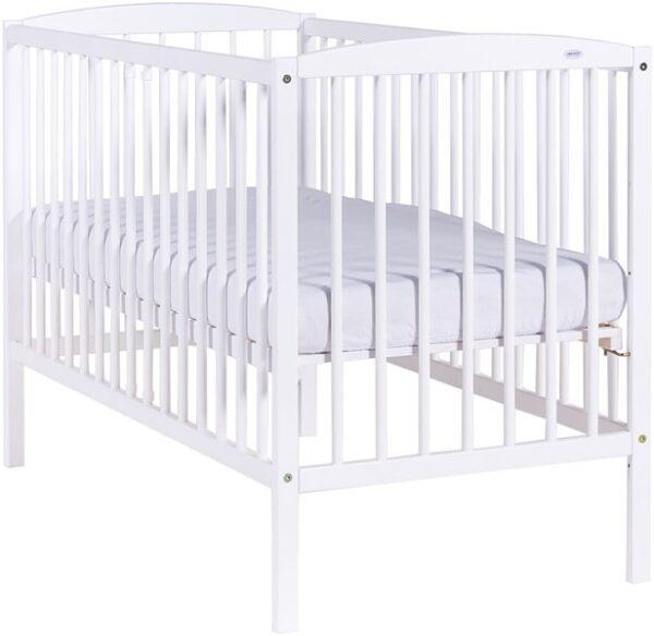 White Bērnu kokā gultiņa 120x60cm