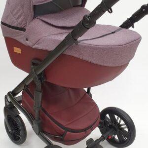Bērnu rati Mikrus Baby Collection Bordo 2in1