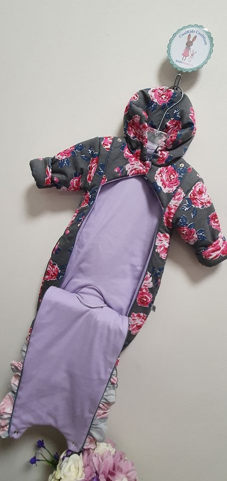 Kombinezoni jaundzimušajiem ar kapuci  FLOWER