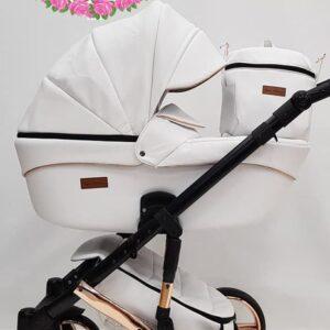 Mikrus Baby Collection eko āda White 2in1