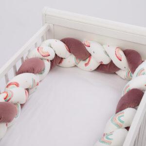Apmalīte bērna gultiņai PUER Color MIX