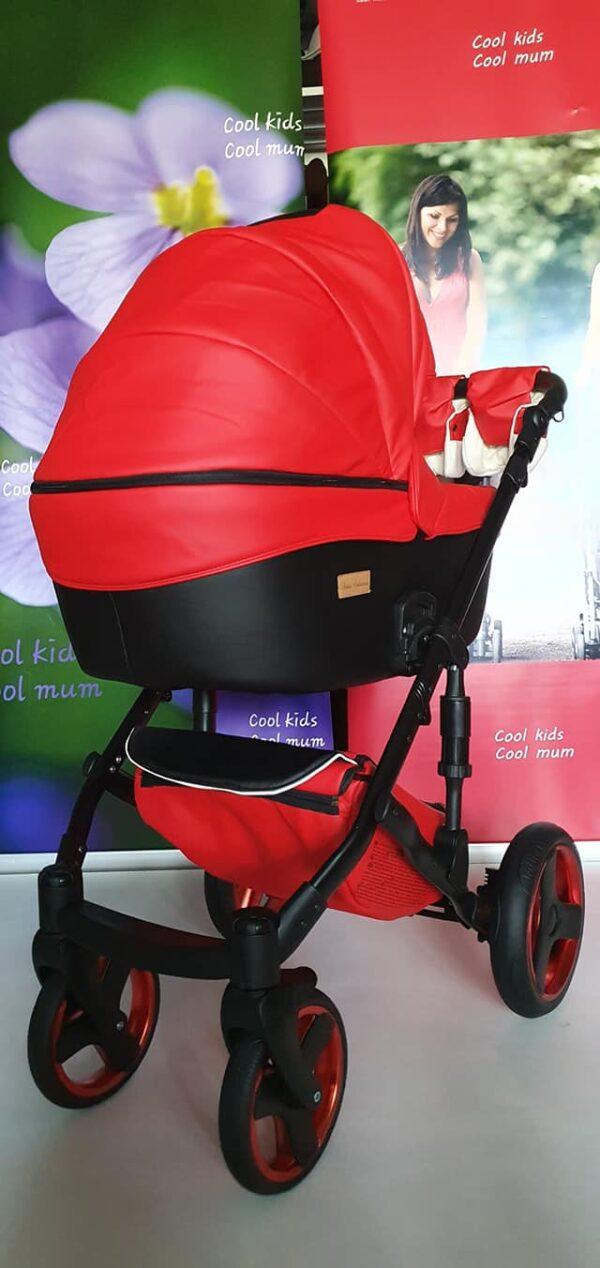 Bērnu ratiņi Mikrus Baby Collection RED-black / 2in1