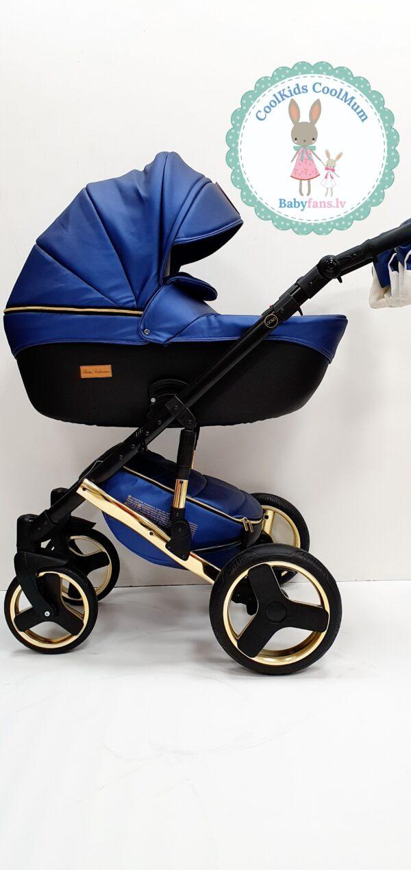 Mikrus Baby Collection eko āda debess krāsa/gold 2in1
