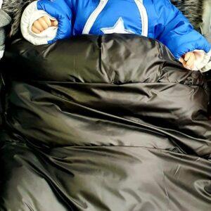 Bērnu ratu guļammaiss PUER Black