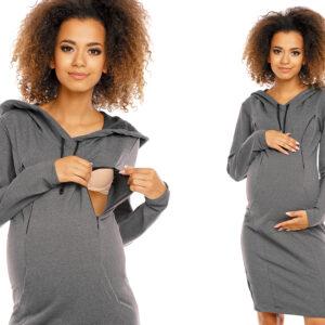 Платье для беременной с секретом кормления и длинным рукавом