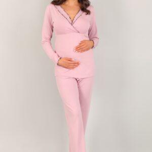 Пижама брюки и рубашка для кормящей мамы