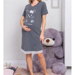 Ночная рубашка для беременной с секретом кормления