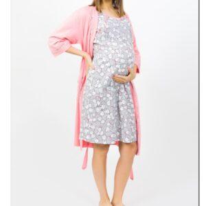 Komplekts halāts un naktskrekls barojošām māmiņām