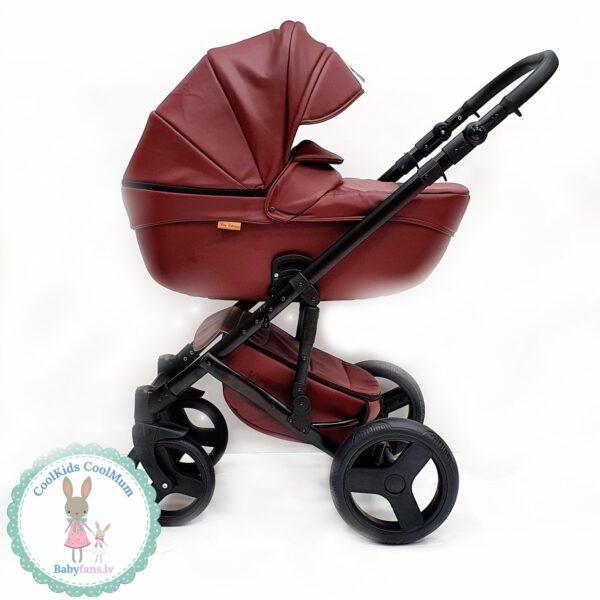 Bērnu Ratiņi Mikrus Baby Collection eko āda BORDO 2in1
