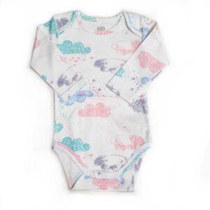 Бодик для новорожденных с длинными рукавами облачка