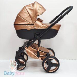 Bērnu Ratiņi Mikrus Baby Collection eko āda GOLD 2in1
