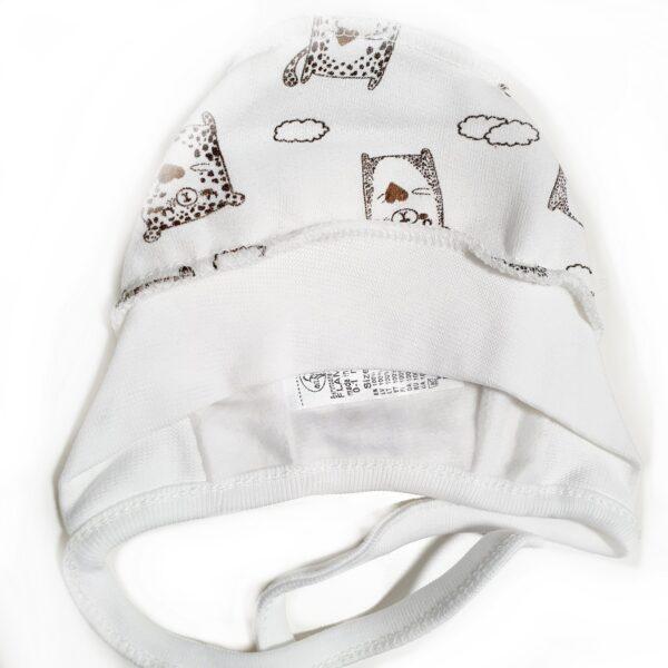 Kokvilnas cepure zīdainītim sasienama 38 cm