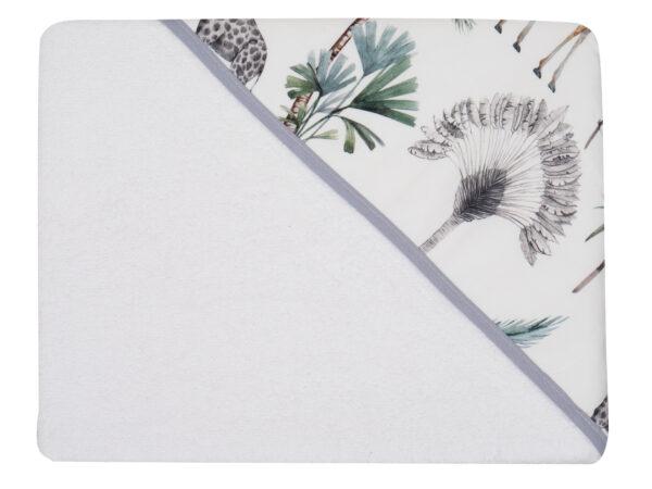 Детское полотенце с капюшоном SAFARI white 100*100см