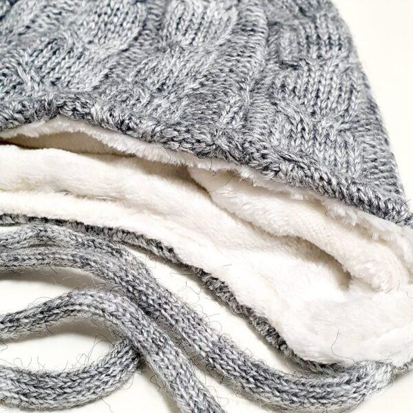 Cepure šalle komplekts jaundzimušajiem 38 – 40 cm