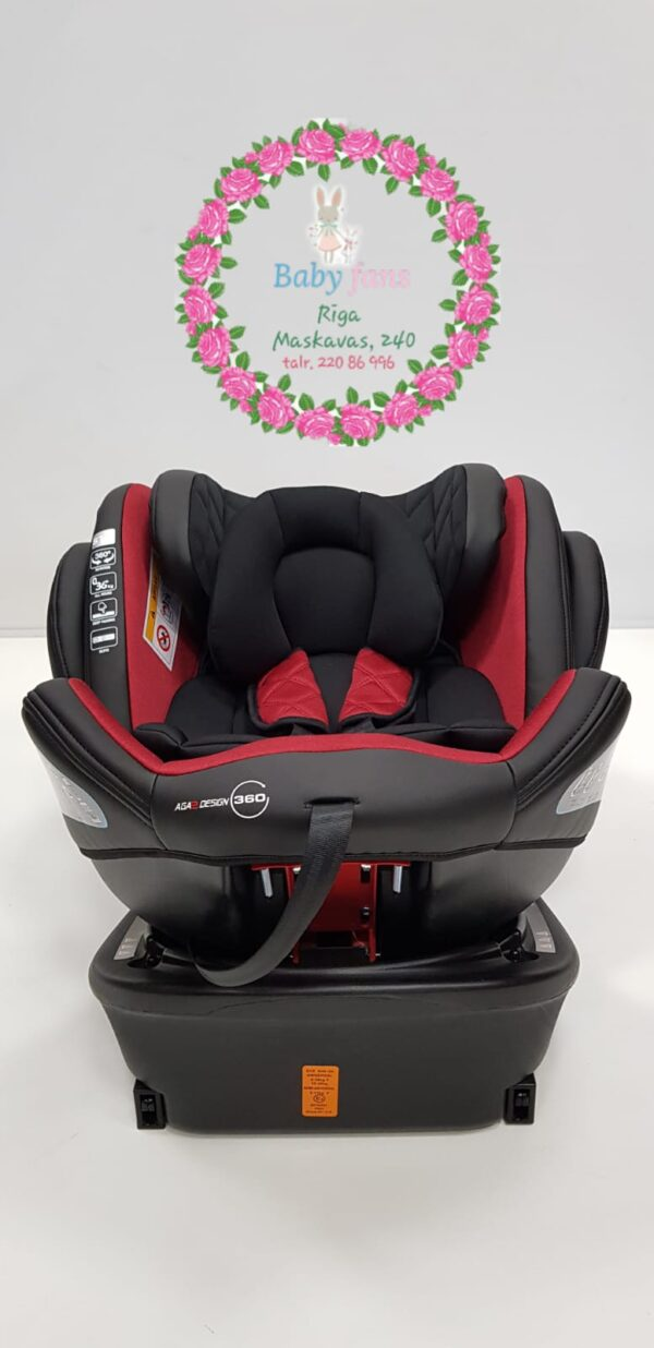 Авто кресло детское AGA2 HAMILTON Isofix RED 0-36