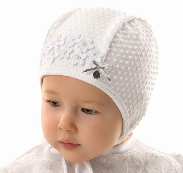 Хлопковая шапочка для девочки 36 размер