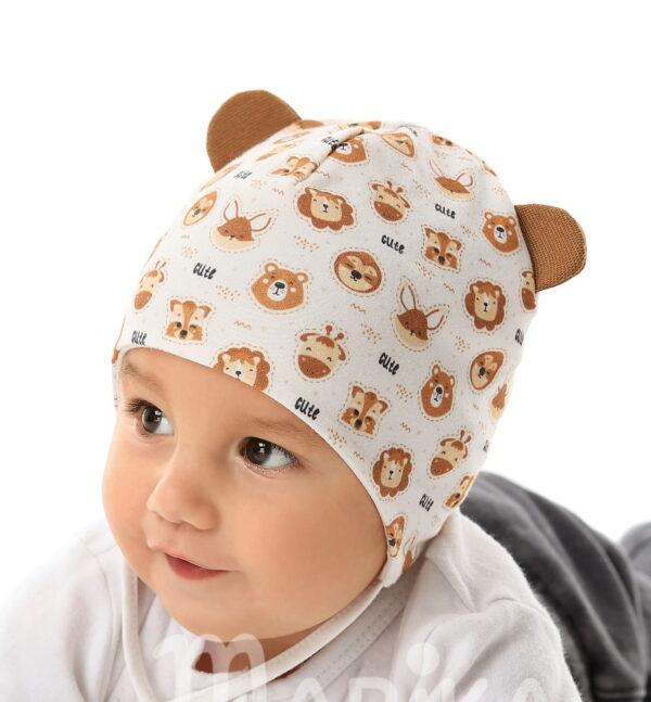 Хлопковая шапочка 40 размер