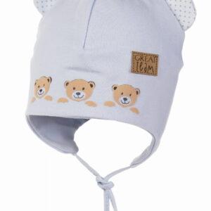 Хлопковая шапочка новорожденным 38 размер