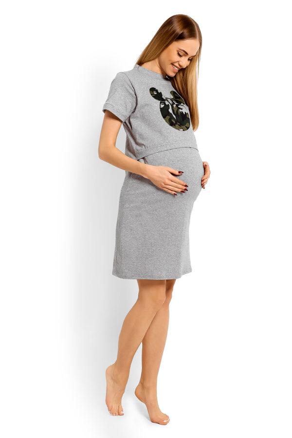 Naktskrekls grūtniecēm PEEKABOO Mikky grey