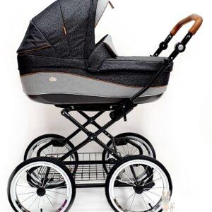 Klasiski bērnu ratiņi ROAN EMMA E-60 2in1