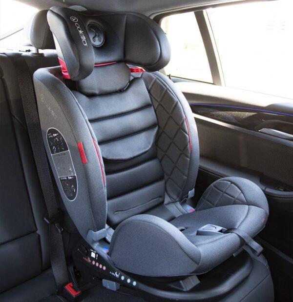 Autokrēsliņš COLETTO CASCADE ISOFIX BLACK 0-36 kg