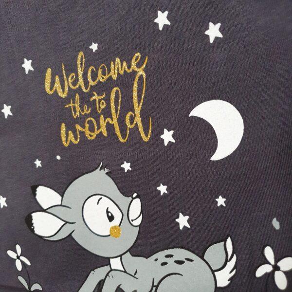 Ночная рубашка с секретом кормления welcome the to world