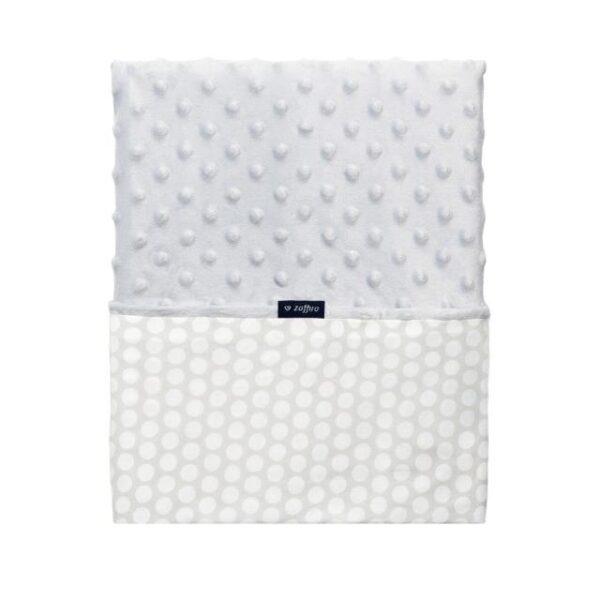 Мягкое одеяло-пледик minky 75 x 100см GREY