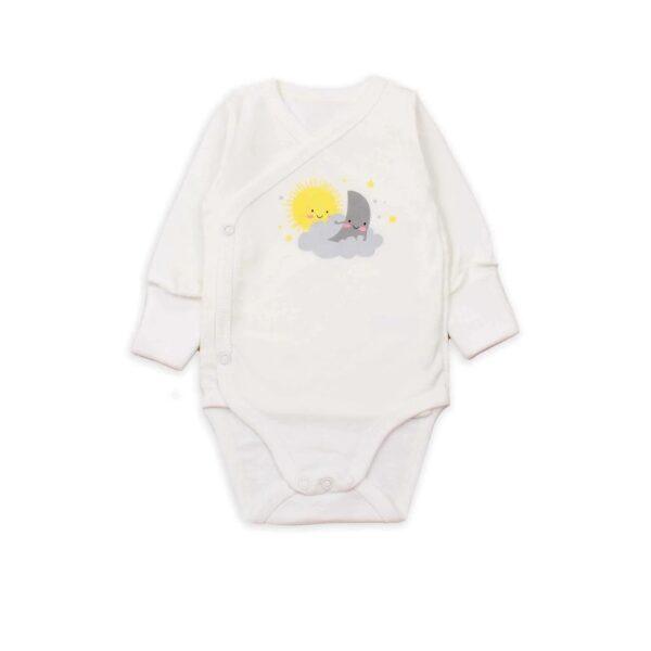 Бодик для новорожденных с длинными рукавами Солнышко