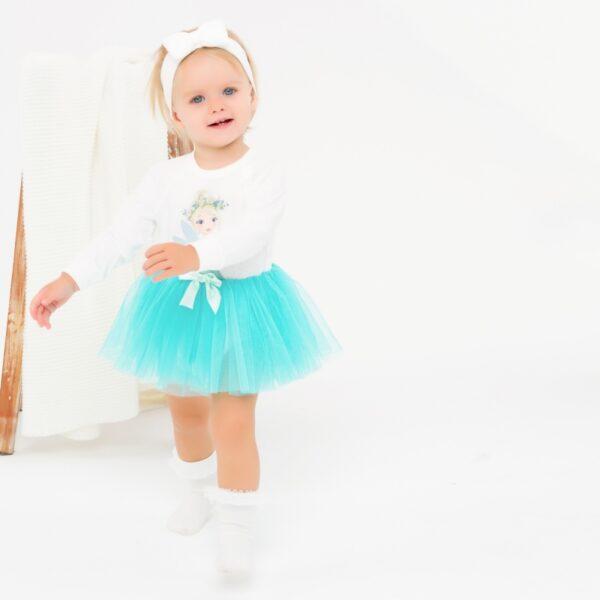Bodijs jaundzimušajiem ar garām piedurknēm ballerina